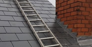 Leadwork on a Chimney by All Weather Roofing West Midlands Ltd